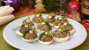 Фото рецепта Яйца фаршированные грибами