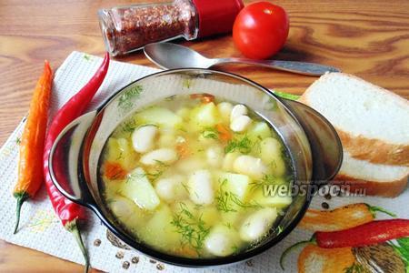 Суп из консервированной фасоли