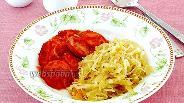 Фото рецепта Сардельки в томатно-луковом соусе