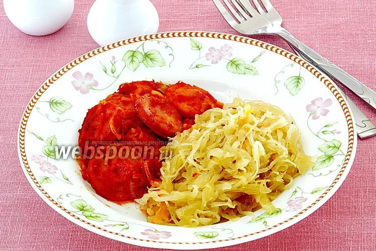 Фото Сардельки в томатно-луковом соусе