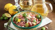 Фото рецепта Колбасный салат с салями «Средиземноморский»