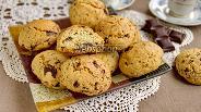Фото рецепта Печенье с рубленым шоколадом