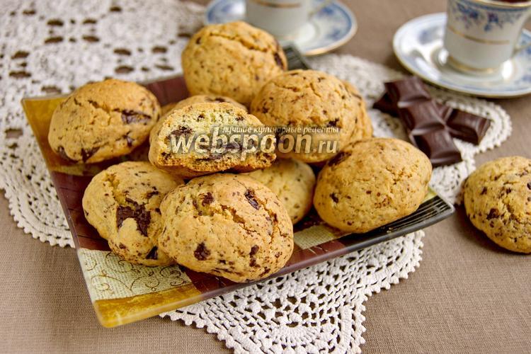 Фото Печенье с рубленым шоколадом
