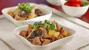 Фото рецепта Индейка с грибами шиитаке и ананасом