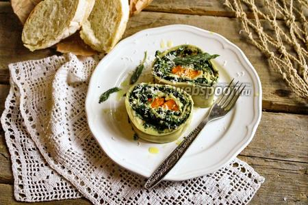 Ротоло с печёной тыквой и шпинатом
