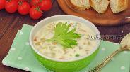 Фото рецепта Суп с консервированной кукурузой