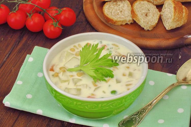 Фото Суп с консервированной кукурузой