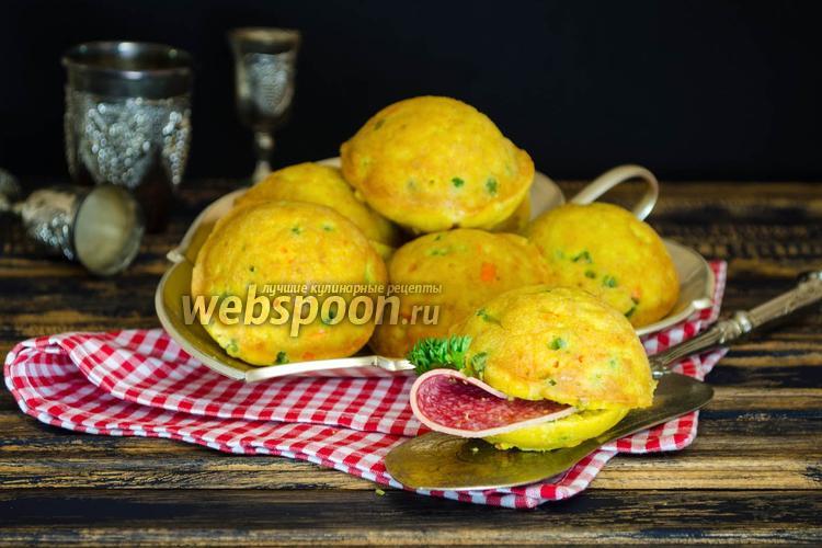 Фото Кексы с овощной начинкой