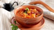 Фото рецепта Фасолевый суп с кислой капустой и колбасками