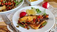 Фото рецепта Треска жареная с мексиканской смесью и тимьяном