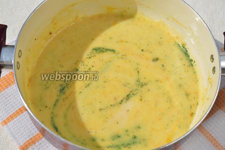 Нарежьте укроп, как можно мельче, и добавьте его в соус. Поставьте на огонь и варите на среднем огне, примерно 3 минуты, постоянно помешивая. Добавьте по вкусу лимонный сок. Выключайте!