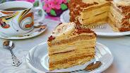 Фото рецепта Блинный торт с бананом