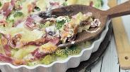 Фото рецепта Брокколи-картофельный гратен с ветчиной