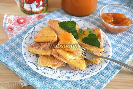 Жареный сулугуни с абрикосовым джемом