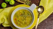 Фото рецепта Пикантный суп из маша с яблоком