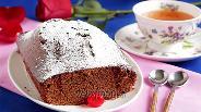 Фото рецепта Быстрый шоколадный кекс на сгущёнке