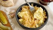 Фото рецепта Тушёная капуста с галушками