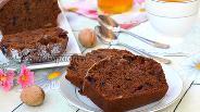 Фото рецепта Постный кекс с вишней и имбирём