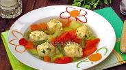 Фото рецепта Овощной суп с фрикадельками из индейки