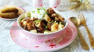 Фото рецепта Тушёная свинина с галушками