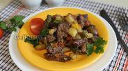Фото рецепта Овощное рагу с куриной печёнкой
