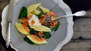Фото рецепта Паста с лососевыми и шпинатом
