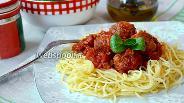 Фото рецепта Спагетти с тефтельками