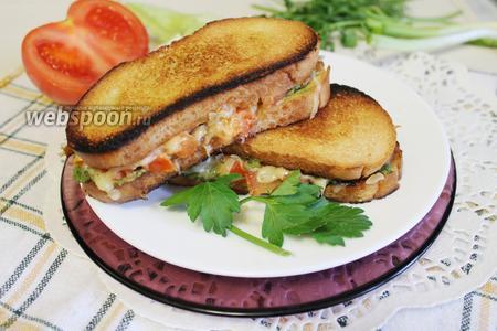 Бутерброд гриль-капрезе