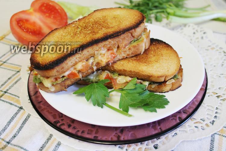 Фото Бутерброд гриль-капрезе