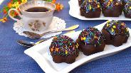 Фото рецепта Постные шоколадные кексы с глазурью