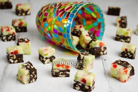 Фото рецепта Шоколадные конфеты «Мозаика»