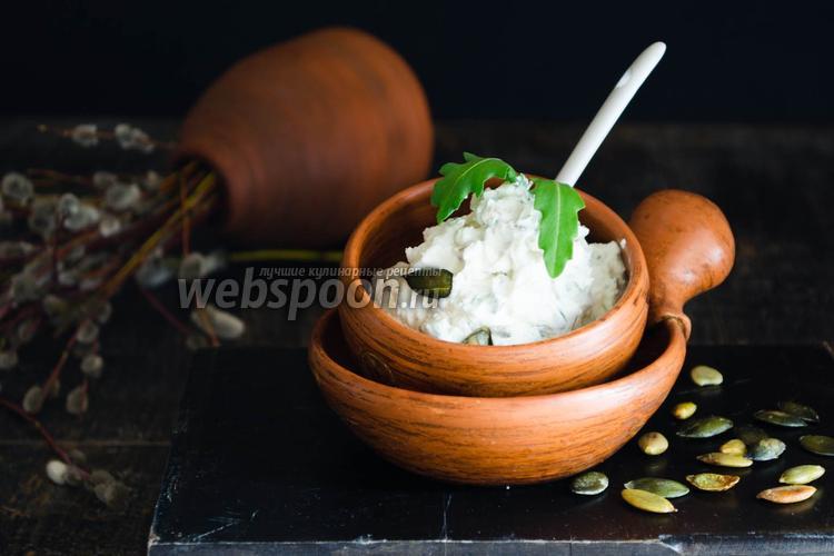Фото Пате-намазка из сливочного сыра с тыквенными семечками