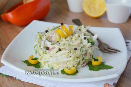 Овощной салат с яблоком и редисом