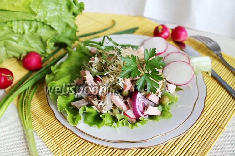 Фото Мужской салат с редисом