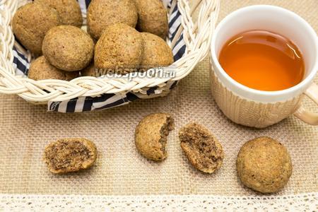 Ржаное печенье с орехами