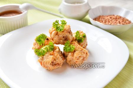 Куриные тефтели с гречкой
