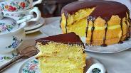 Фото рецепта Бостонский кремовый торт (Boston Cream Pie)