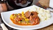 Фото рецепта Говядина запечённая с гавайской смесью