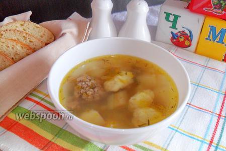 Детский суп с клёцками