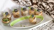 Фото рецепта Канапе с балыком из толстолобика