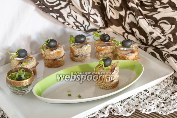 Рецепт Канапе с балыком из толстолобика