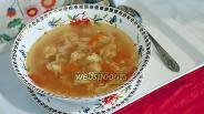 Фото рецепта Суп томатный с фрикадельками
