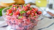Фото рецепта Винегрет с солёными грибами