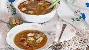 Фото рецепта Суп с фрикадельками и фасолью