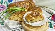 Фото рецепта Кулебяка с тыквой и зелёным луком