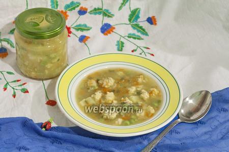 Суп с фрикадельками детский