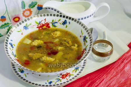 Суп с фрикадельками и клёцками