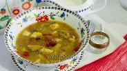 Фото рецепта Суп с фрикадельками и клёцками