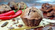 Фото рецепта Шоколадные кексы с перцем чили и шоколадом