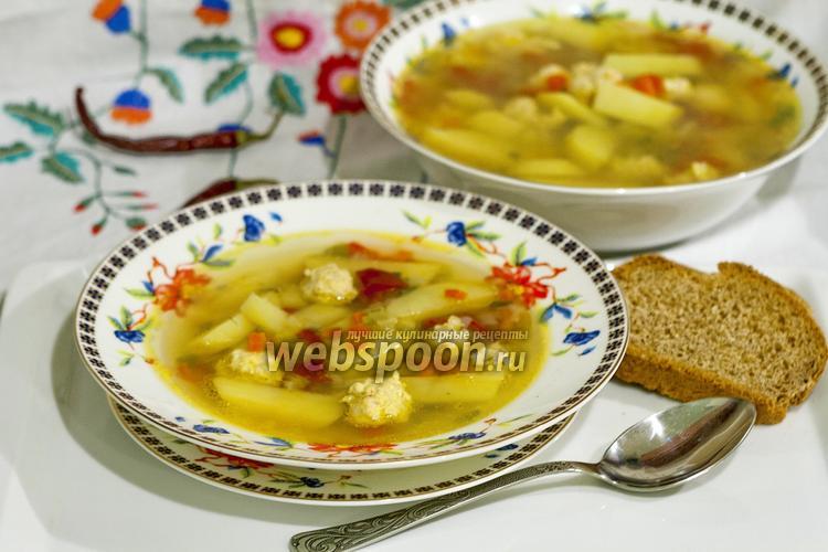 Фото Суп картофельный с фрикадельками